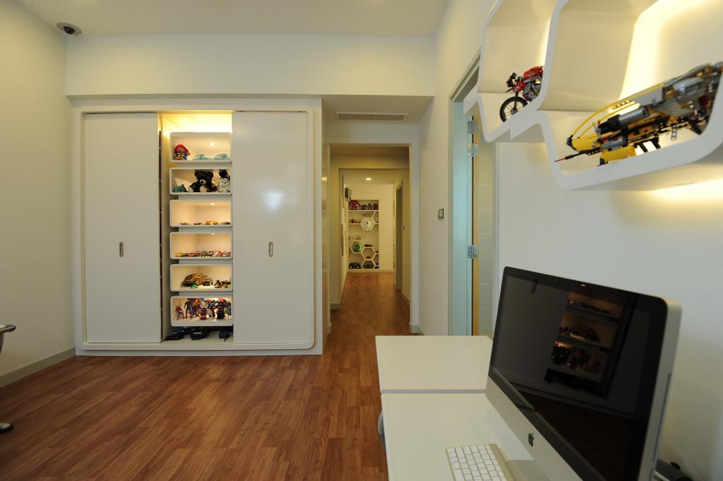 Modern, Condo, Study, Duplex Condo, Interior Designer, SQFT Space Design Management, Flooring