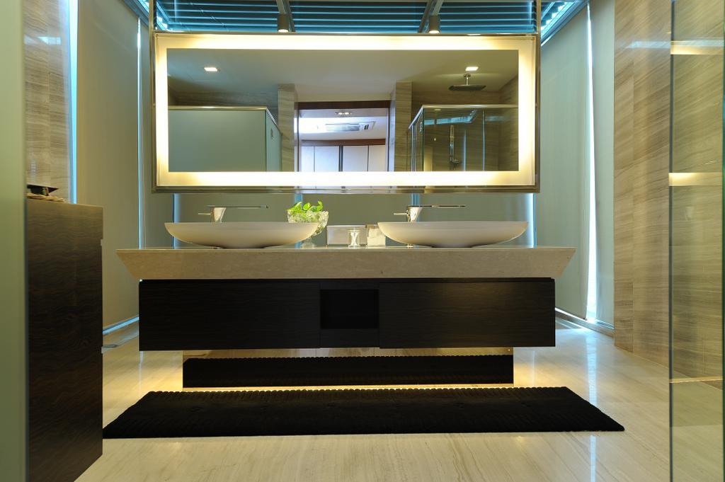 Modern, Condo, Bathroom, Duplex Condo, Interior Designer, SQFT Space Design Management, Indoors, Interior Design, Room, Coffee Table, Furniture, Table