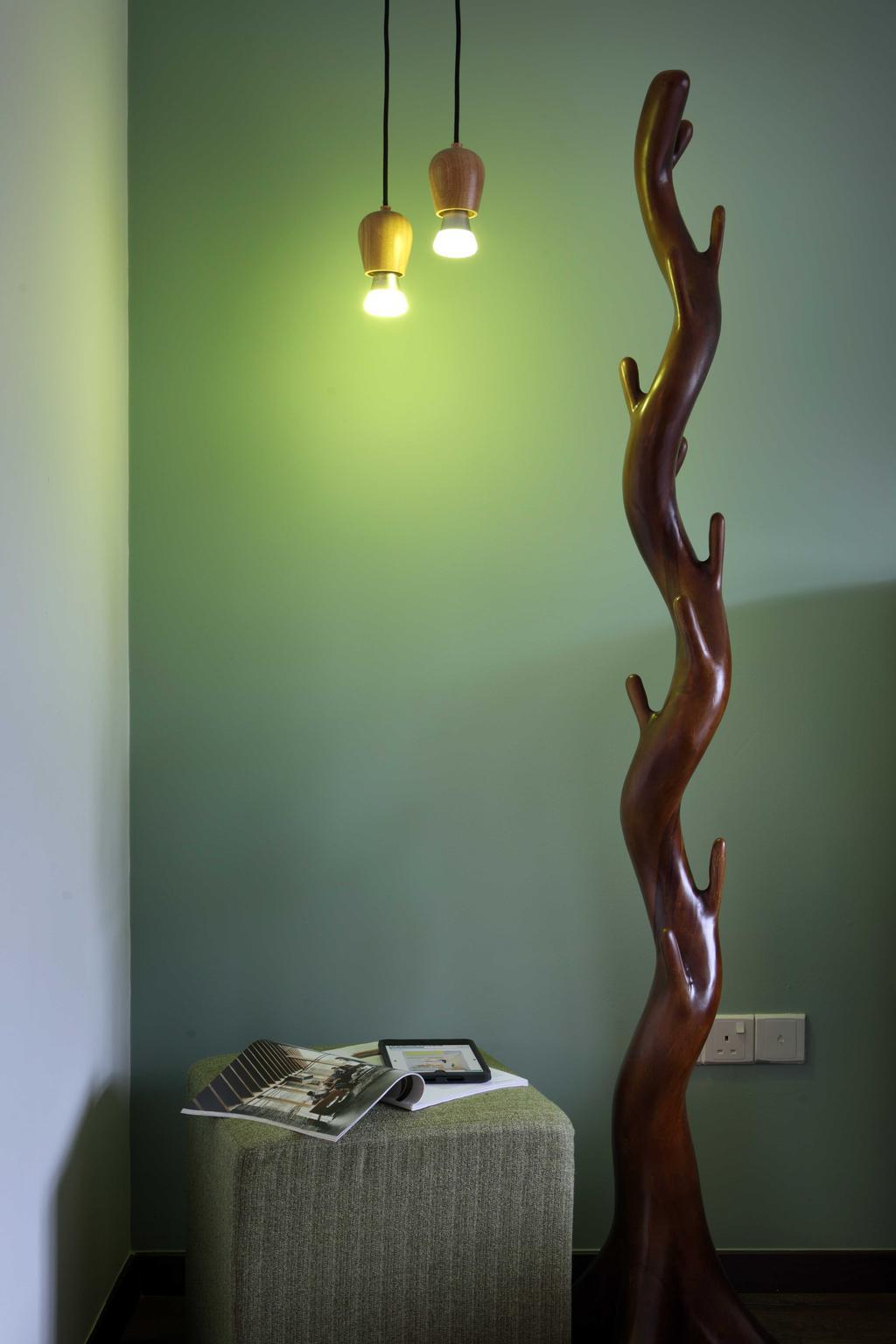 Scandinavian, HDB, Punggol Field (Block 170A), Interior Designer, Boon Siew D'sign, Drop Light, Display Piece, Art, Sculpture