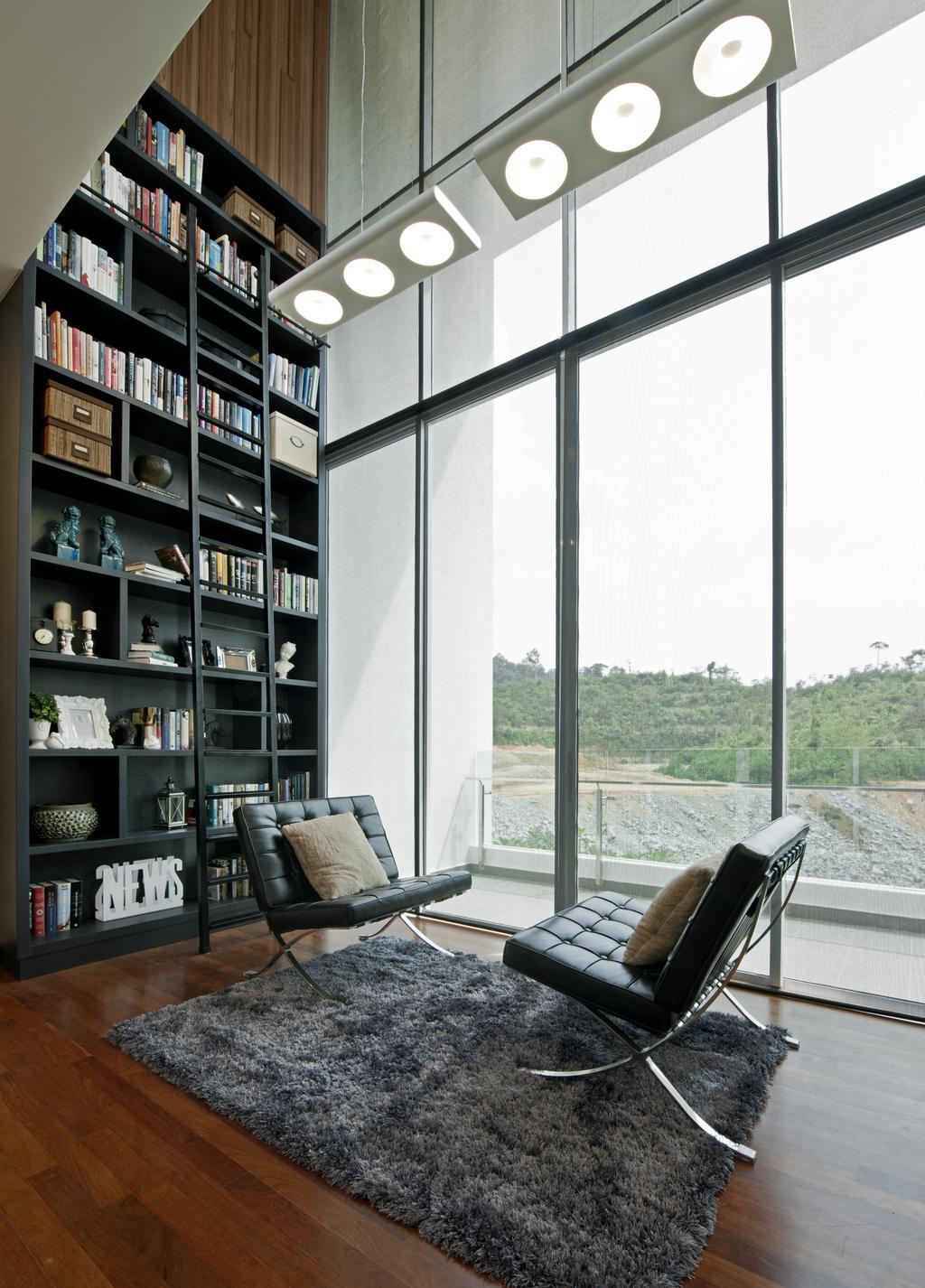 Modern, Landed, Study, SuperLink-Templer Park, Interior Designer, SQFT Space Design Management