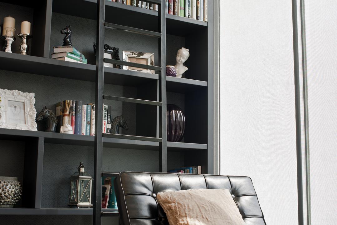 SuperLink-Templer Park, SQFT Space Design Management, Modern, Study, Landed, Shelf, Bookcase, Furniture, Home Decor, Linen, Chair