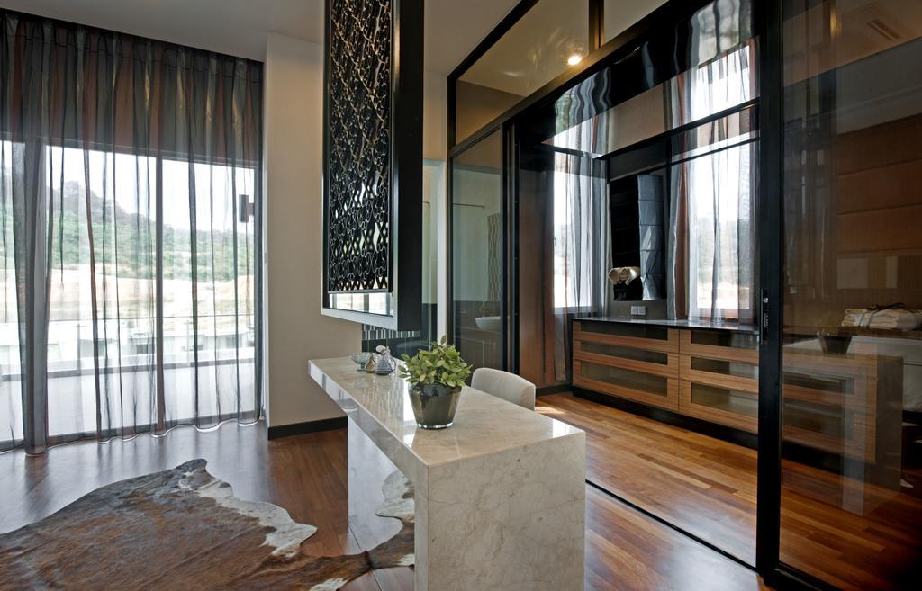 Modern, Landed, Bathroom, SuperLink-Templer Park, Interior Designer, SQFT Space Design Management, Dining Table, Furniture, Table