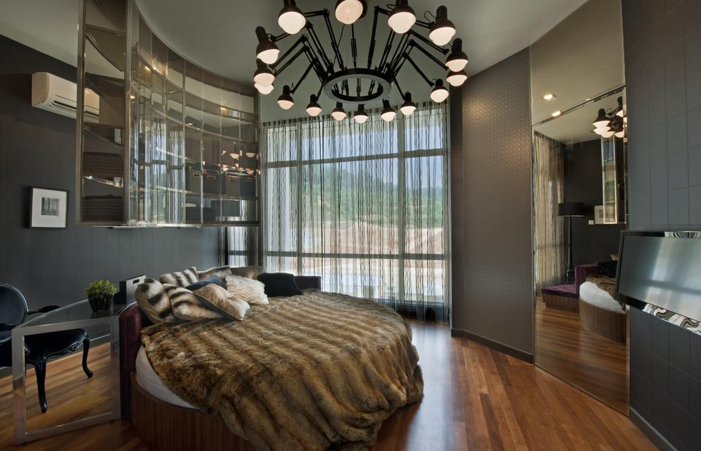 Modern, Landed, Bedroom, SuperLink-Templer Park, Interior Designer, SQFT Space Design Management, Indoors, Interior Design, Room, Couch, Furniture