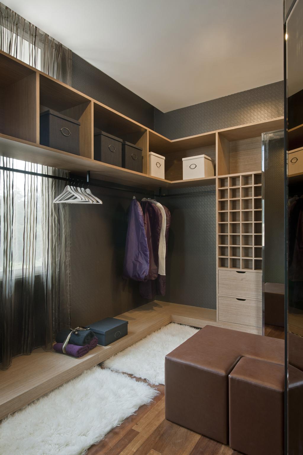 Modern, Landed, Bedroom, SuperLink-Templer Park, Interior Designer, SQFT Space Design Management, Closet, Towel