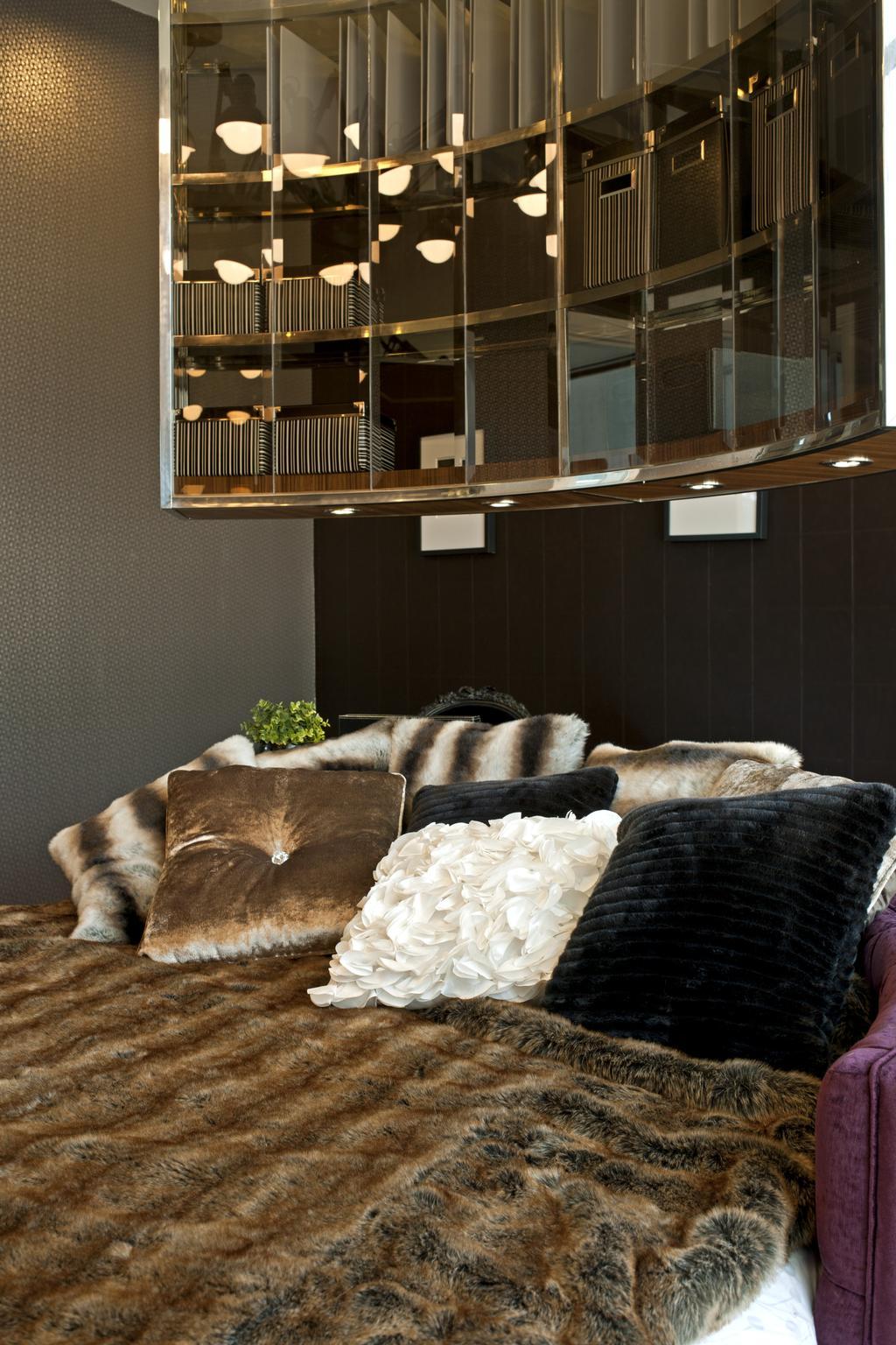 Modern, Landed, Bedroom, SuperLink-Templer Park, Interior Designer, SQFT Space Design Management, Couch, Furniture