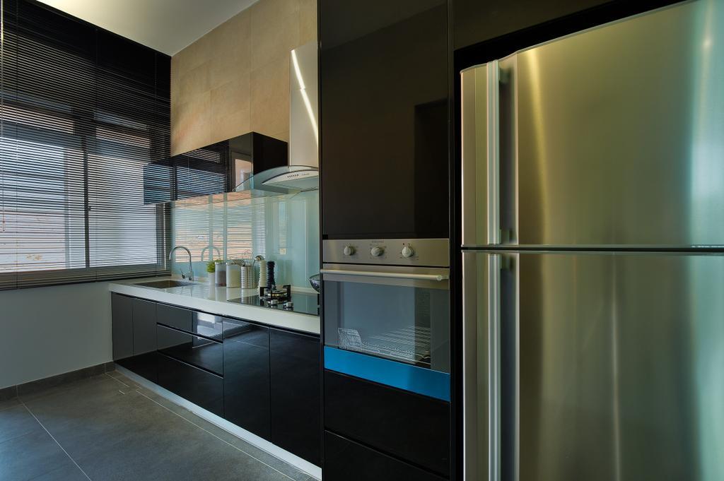 Modern, Landed, Kitchen, Dolomite Templer Park, Selayang, Interior Designer, SQFT Space Design Management, Appliance, Electrical Device, Oven, Indoors, Interior Design, Room