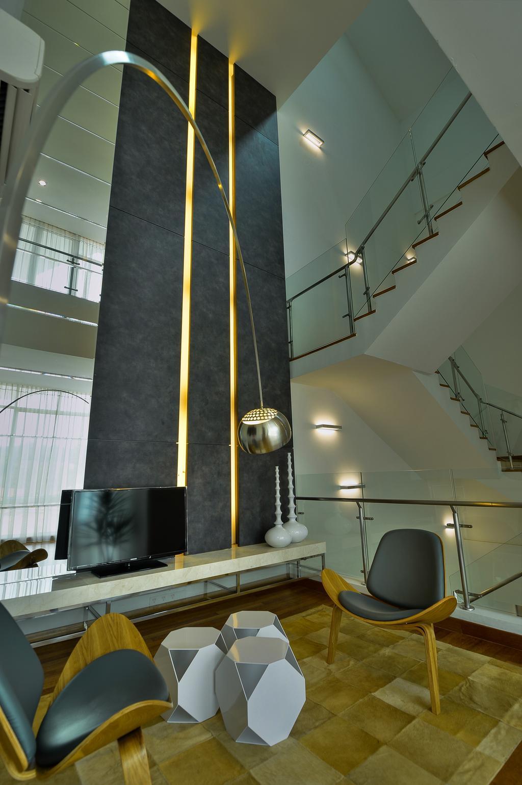 Modern, Landed, Study, Dolomite Templer Park, Selayang, Interior Designer, SQFT Space Design Management, Electronics, Lcd Screen, Monitor, Screen