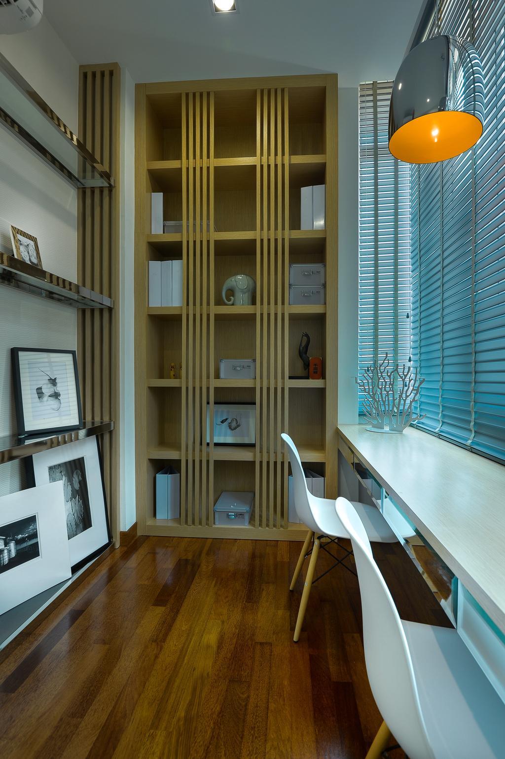 Modern, Landed, Study, Dolomite Templer Park, Selayang, Interior Designer, SQFT Space Design Management, Chair, Furniture