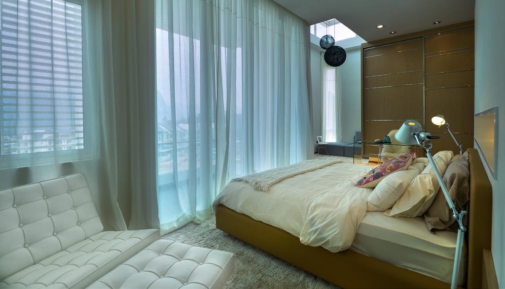 Modern, Landed, Bedroom, Dolomite Templer Park, Selayang, Interior Designer, SQFT Space Design Management, Bed, Furniture